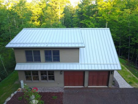 RHEINZINK Blue-Grey Mechanical Lock Standing Seam Roof Panel