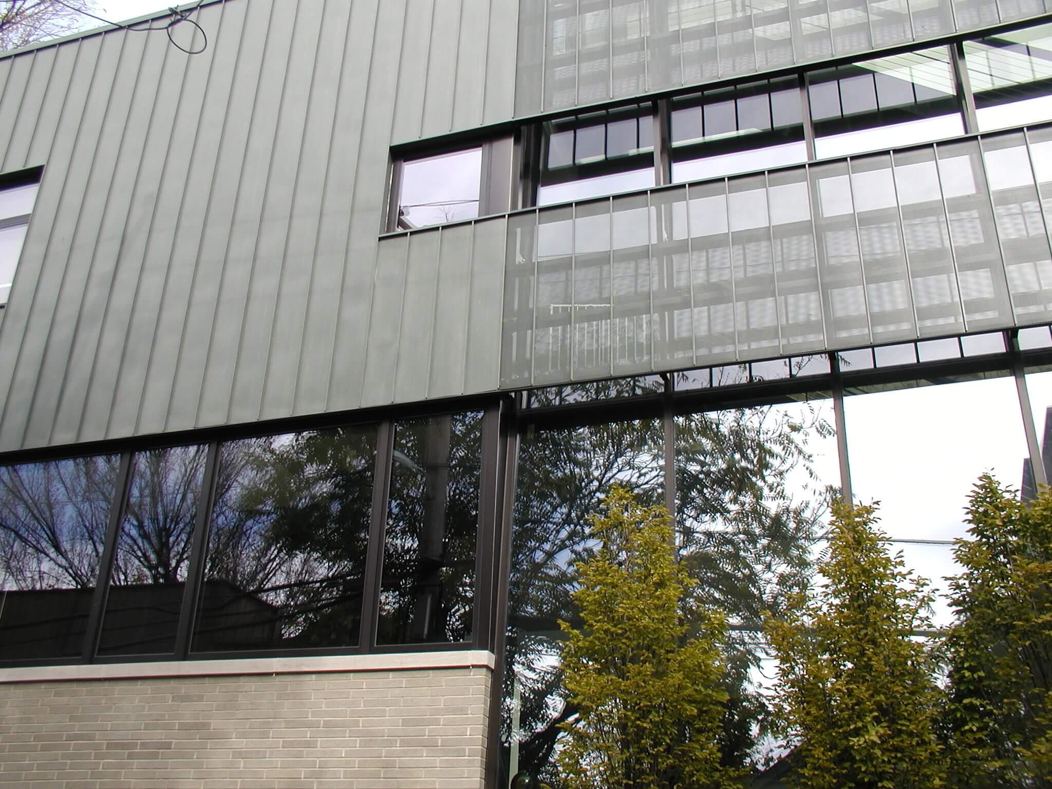 Rheinzink Graphite Grey Standing Seam Wall Panels Sheet