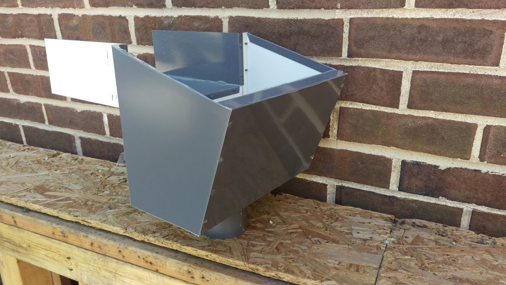 Scupper With Sleeve Open Top Sheet Metal Supply