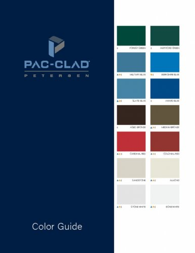 Steel And Aluminum Color Charts Firestone Pac Clad Atas Mcelroy