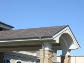 RHEINZINK gutter system - Graphite Grey Gutter and Downspout 1