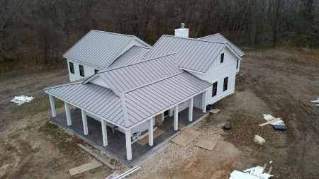 24 Ga Slate Gray Snap-Lock Standing Seam Roof Panels
