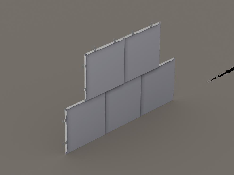 Flat Lock Wall Tiles Sheet Metal Supply Wall Cladding