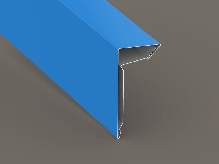 Low Slope Roof Coping Cap Kick No Hem Sheet Metal